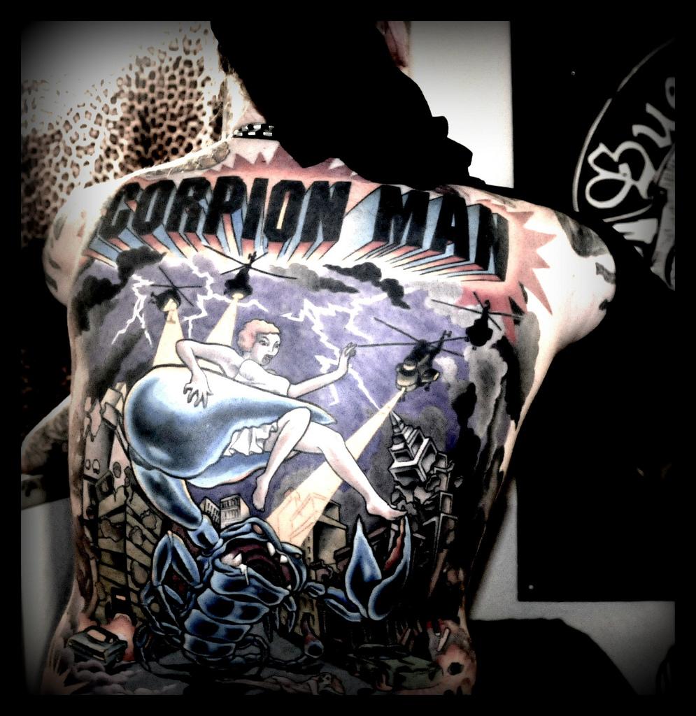 Scorpion Man Tattoo