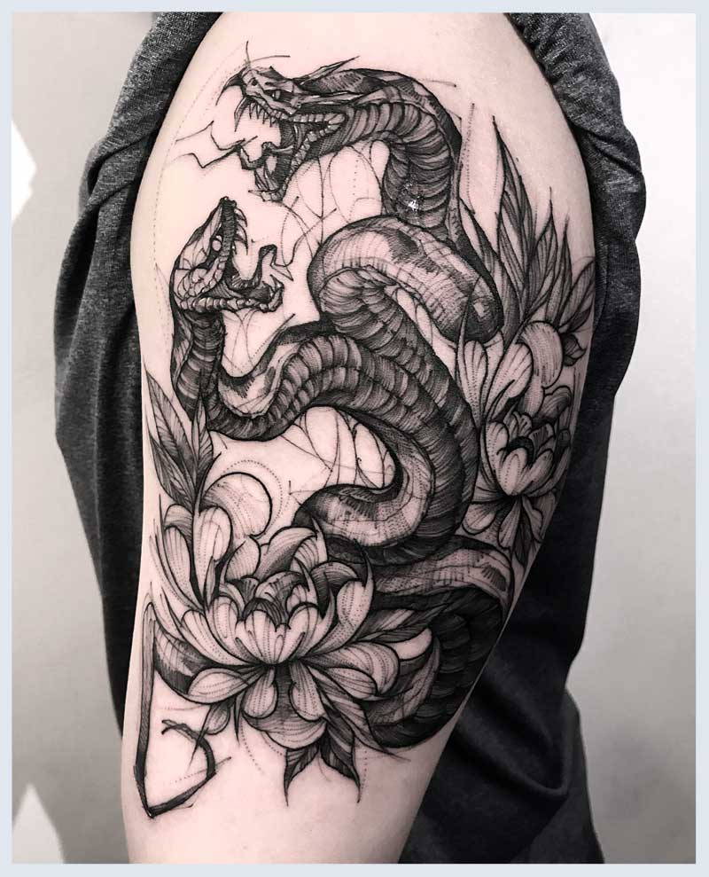 Realistic Snake Tattoos